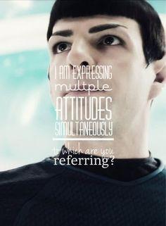 INTJ ~ 'To  which attitude are you referring?'