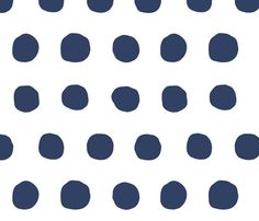 Jumbo Dots in navy/white fabric by domesticate on Spoonflower - custom fabric
