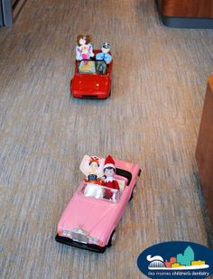Hermey and his friends from the Reception play area decided to have a car-chase…