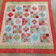 "Moda charm pack quilt . 38"" by 40"""