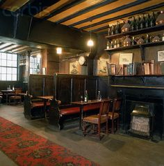 Traditional Old English Pub Interior