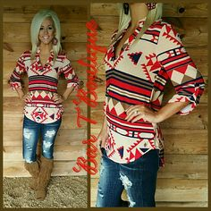Hold onto me Tunic - Red · Bar T Boutique · Online Store Powered by Storenvy