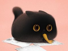 Gimo designed by Alex Ray Kiesling. the global community for designers and creative professionals. Cute Little Animals, Cute Funny Animals, Cute Cats, Cute Animal Drawings, Kawaii Drawings, Character Art, Character Design, Kawaii Art, Cute Creatures