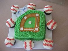 Caketivity: Baseball Birthday cake