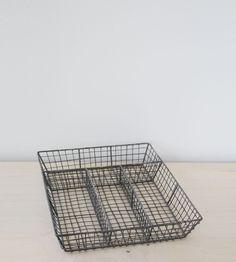 Nkuku Wire Cutlery Tray | Distressed Grey
