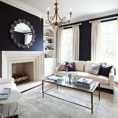 Living Room Gray And Navy Living Room Design, Pictures, Remodel, Decor and Ideas - page 2
