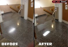 Honing and #polishing this #terrazzo really helped to bring out its beauty. Call for help with your natural stone.