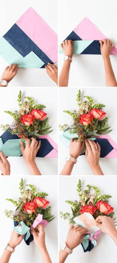 We're shopping for a cause with Mon Amie and making some oh so pretty DIY fabric wrapped bouquets for gifting this holiday! We're shopping for a cause with Mon Amie and making some oh so pretty DIY fabric wrapped bouquets for gifting this holiday! Flower Bouquet Diy, Bouquet Wrap, Diy Flowers, Vintage Flowers, How To Wrap Flowers, Flower Wrap, Flower Diy, Cactus Flower, Flowers Garden