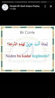 Learn Turkish Language, Arabic Language, Turkish Lessons, English Vinglish, Language Quotes, Think, Knowledge, Learning, Words