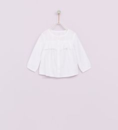 FRILLED SHIRT-SHIRTS AND T-SHIRTS-BABY GIRL | 3 months-4 years-KIDS | ZARA United Kingdom