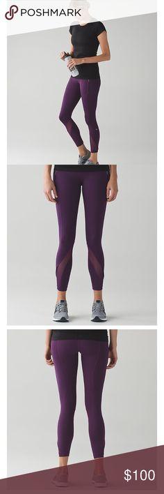 Lululemon Inspire Tight II Size 4 Lululemon Inspire Tight II in darkest magenta. Only worn twice! lululemon athletica Pants Leggings