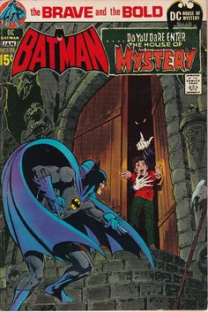 Brave and Bold 93 Batman House of Mystery cover by Neal Adams Batman Comic Books, Comic Book Heroes, Comic Books Art, Silver Age Comics, Vintage Comic Books, Vintage Comics, I Am Batman, Superman, Graphic Novels