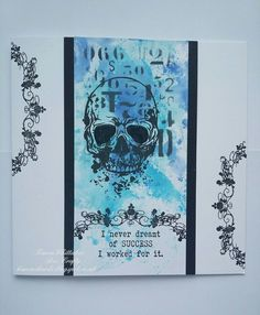 Skull stamp set by Bee Crafty Distress Oxides, I Card, Stamping, Card Making, Bee, Skull, Journal, Crafty, Halloween