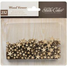 STUDIO CALICO - WOOD VENEER - TINY STARS STUDIO CALICO - Classic Calico 2 Collection: Wood Veneer. Perfect for scrapbooking and card crafting. This package contains die-cut wood veneer in assorted styles and sizes