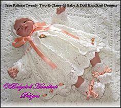 "FREE Rosebuds and Butterflies 16-18"" doll/newborn baby-free knitting pattern"