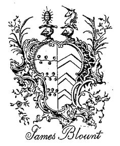 Image of James Blount's Coat-of-Arms.
