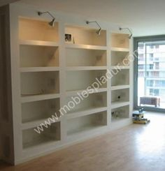 Built in shelves Condo Interior Design, Interior Decorating, Bedroom Cupboards, Built In Shelves, Deco Furniture, Love Home, Wood Design, Home Organization, Decoration