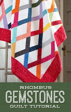Join Jenny for a gem of a tutorial as she stitches up the Rhombus Gemstones Quilt using the MSQC Large Rhombus Template! This pretty pattern is quick, easy, and absolutely dazzling! Follow the link below to watch this dazzling tutorial! #MissouriStarQuiltCo #RhombusGemstonesQuilt #DiamondQuilt #JellyRollQuilt #DiamondAesthetic #QuiltPattern #QuiltTutorial #StripQuilt #Sewing #BeginnerSewing #Quilt #QuiltBlock #HowToQuilt Missouri Star Quilt Tutorials, Quilting Tutorials, Quilting Projects, Quilting Designs, Quilting Ideas, Jelly Roll Quilt Patterns, Quilt Patterns Free, Strip Quilts, Easy Quilts