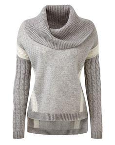 Luxury Cashmere Cowl Neck Sweater