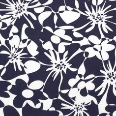 London Calling Navy Blue Cotton Jersey Knit Fabric