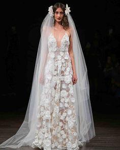 Naeem Khan Fall 2017 Wedding Dress Collection   Martha Stewart Weddings – Sleeveless A-line wedding dress