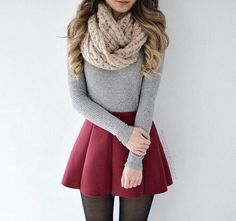 A pleasant outfit for the winter nouvelleco look tenue mode Mode Outfits, Outfits For Teens, Casual Outfits, School Outfits, Party Outfits, Couple Outfits, College Outfits, Teens Clothes, Office Outfits