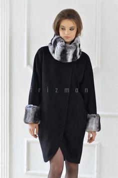 Стильное пальто для полных