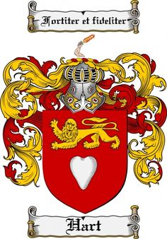 $7.99 Hart Coat of Arms Hart Family Crest Instant Download