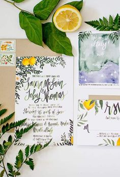 partecipazioni matrimonio limoni