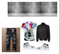 """""""Chill Attire"""" by natasha-225 ❤ liked on Polyvore featuring NIKE, LE3NO, men's fashion and menswear"""