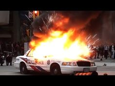 G20 Protest Toronto Anarchists Burning Police Cars and Looking For a Fight - YouTube