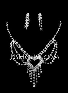 Jewelry - $14.99 - Heart-shaped Ladies Necklace and Earrings Jewelry Set (011009889) http://jjshouse.com/Heart-Shaped-Ladies-Necklace-And-Earrings-Jewelry-Set-011009889-g9889