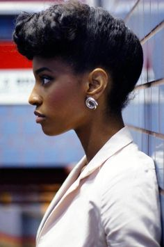 Natural Hair retro style