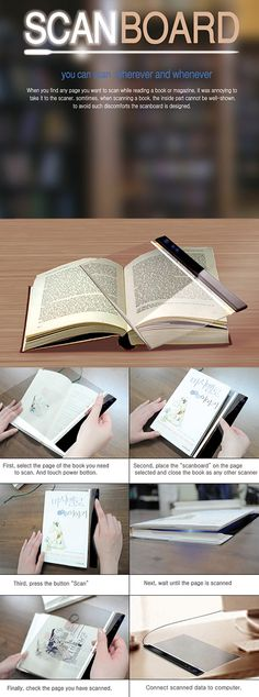 - not available for sale yet but looks promising. Innovative ScanBoard Gadget Lets You Instantly Scan Books, Magazines