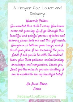 A prayer for Labor and delivery because it's a beautiful and painful process ordained by the one who created you and your baby. Pregnancy Prayer, Pregnancy Labor, Pregnancy Quotes, Pregnancy Announcements, Pregnancy Journal, Prayer For Safe Delivery, Baby Delivery, Pregnancy Affirmations, Birth Affirmations