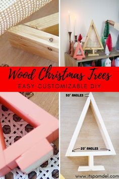 DIY Simple Wood Christmas Tree Christmas Tree Cutting, Wood Christmas Tree, Diy Christmas Ornaments, Christmas Decor, Small Woodworking Projects, Diy Wood Projects, Christmas Inspiration, Wedding Inspiration, Easy Diy Crafts