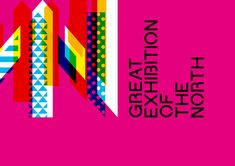 Great Exhibition of the North - Brand Identity artwork >. Event Branding, Logo Branding, Branding Design, Event Logo, Logos, Visual Identity, Brand Identity, Museum Exhibition Design, Art Museum