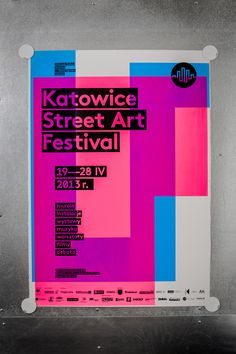 6 shapes / 6 basic fluo colors / 62 versions of poster / silkscreen / street art festival