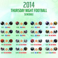 The 2014 Thursday Night Football schedule is HERE!!! #NFLSchedule  http://on.nfl.com/1lGMaMj
