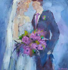 The Bride & Groom 60cm x 60cm, www.paulinegough.com Medium Art, Mixed Media Art, Bride Groom, Painting, Painting Art, Paintings, Mixed Media, Drawings