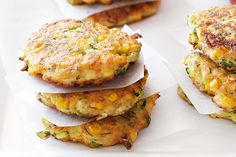 Corn, Zucchini and Chickpea fitters.