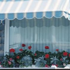 Build a simple frame for your canvas awning with PVC pipe.