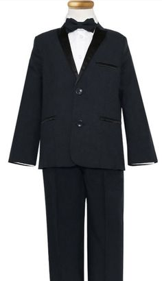 a9759aa68 Boys  Tuxedo with Satin Lapel and Side Pants Stripes