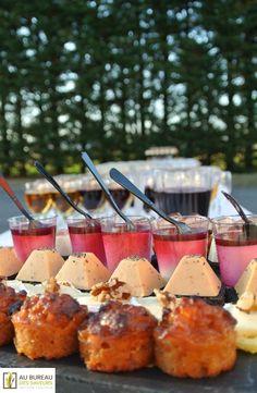 Pièces cocktail salées.