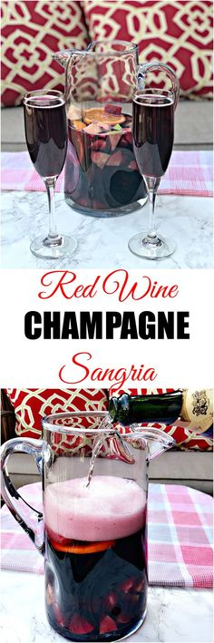 Cinco de Mayo Red wine champagne sangria is delicious, refreshing, and perfect for the spring and summer months. This sangria includes juicy, fresh fruit.