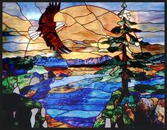 Stained Glass eagles | Stained Glass Work by Lightbenders Glass Studio