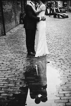 { Dzesika } Devic Fotos » Jenna + Eric | Wedding #reflection #black&white
