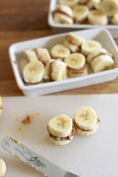 Nut Butter Banana Sandwiches: Low Carb/Paleo snack for kids.  l  The Sleepy Time Gal