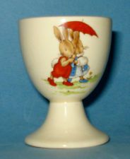 Vintage Royal Doulton Bunnykins Footed Egg Cup 1930s Eggcup