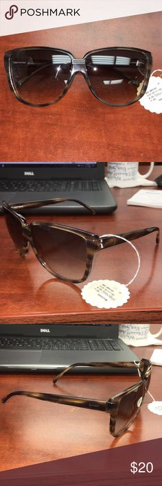 big brown gant sunglasses used condition, light wear and slightly crooked, but still nice to the eye! Gant Accessories Sunglasses